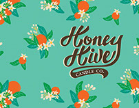Honey Hive Candle Co. Packaging