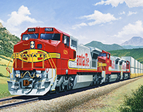 Santa Fe Warbonnets Train