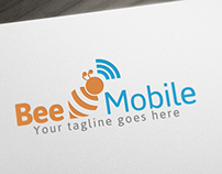 Bee Mobile Logo Template