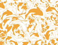 Koi Fish Repeat Pattern