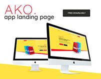 AKO. App Landing Page