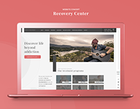 Recovery Center - Website Concept