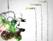 Ink drop calendar - 2010