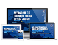 Karachi Scuba Diving Center - Responsive Web Design