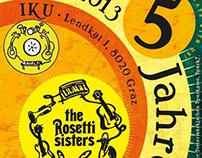 Flyer Rosetti Sisters // Concerts in April & May 2013
