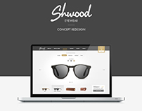 Shwood sunglasses - eshop Concept Redesign