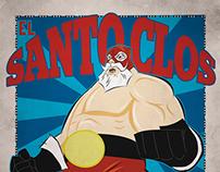 El Santo Clos Sticker
