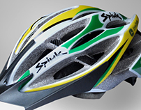 Corporate design helmet. Team rider JOHN DEERE