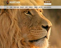 "Web Design - ""Desert Lion"""
