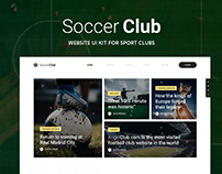 Soccer Club – Sporty Website UI Kit