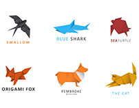 6 Animal Logos With Origami Style
