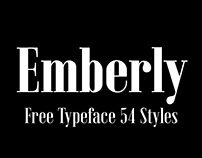 Emberly Free Typeface / 54 Styles