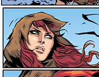 Red Sonja Comic Page – Coloring Process