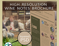 Wine Notes Layered PSD Brochure Mockup