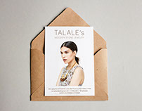 TALALE's Wooden Stone Jewelry Design Postcard