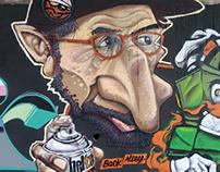Kota Wall-risan graffiti stop