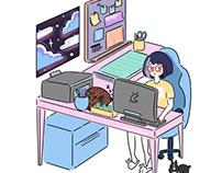 Illustration IV: Work Station