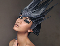Sinamay Headpiece Beauty Shoot