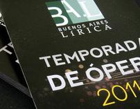 Buenoa Aires Lírica, Temporada de Opera 2011