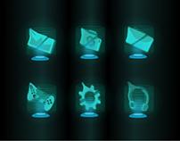 Teleportation theme - App icons set design