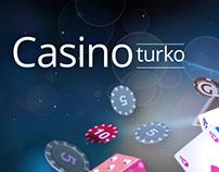 Central banner and logo design for online casino