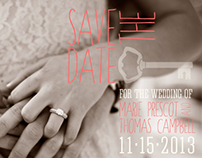 """Save The Date"" Postcard Design"