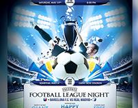 Football Soccer League Night Flyer Template
