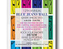 Blue Jeans Ball invitation