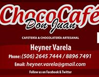 Tarjetas de Presentación Chococafé Don Juan