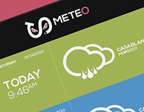 Meteo Application UI Design