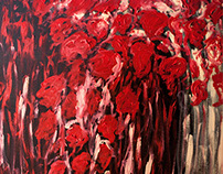 Sloka 51: My Painting - Red Jungle of Planet Earth