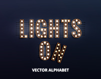 Vector Alphabet. Lights On