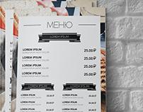 Designed menu for cafe