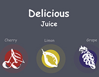 Delicious juice/ packaging, illustration