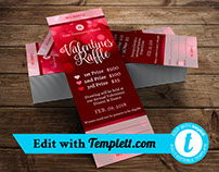Valentines Raffle Ticket Templett