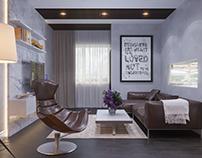 Interior design in Scandinavian style 75м2