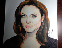 Hand Drawing Angelina Jolie