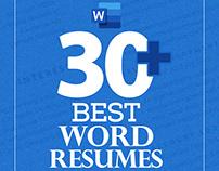 Word Resume Templates (30+)