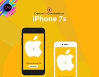 iPhone 7s mockup free psd