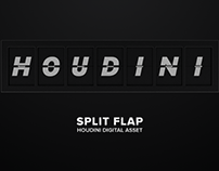 Split Flap | Houdini Digital Asset