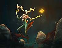 Forest Deity - motion illustration