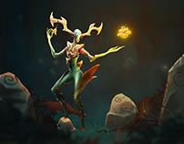 Forest Deity - motion illustration