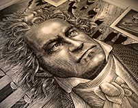 Beethoven Commemorative Poster by Steven Noble