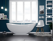 Archviz bathroom design render