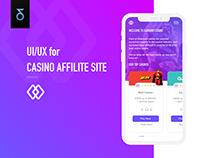 UI UX | Casino affiliate site