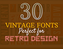 30+ Stylish Vintage Fonts Perfect for Retro Design