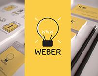 Сorporate identity of the web design studio WEBER