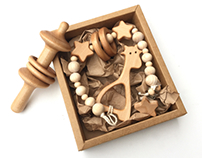 Wooden Teethers and Rattles