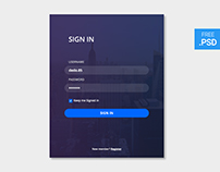 CreativesCastle UI #002 — Sign In form - FREE PSD