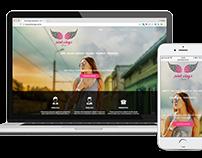 Responsive Website - Pink Wings Acessories Store -
